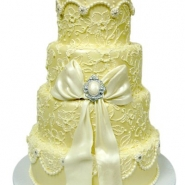 golden-wedding-cake