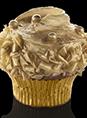 Golden Velvet Cupcake